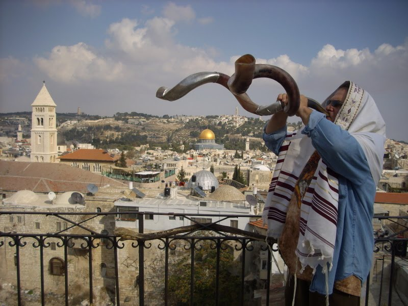 Shofar joods nieuwjaar