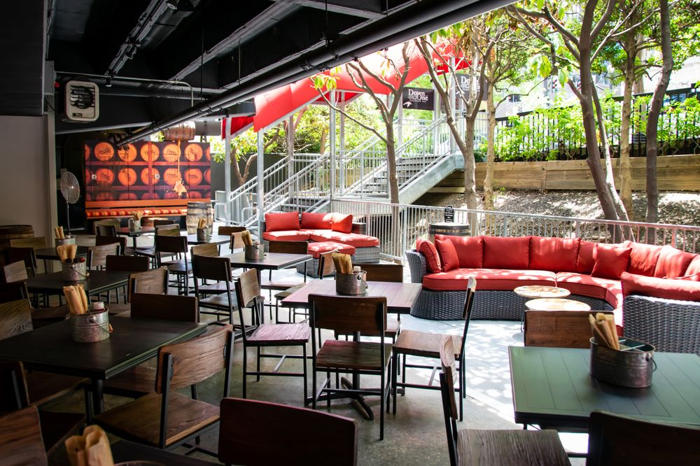 Down One Bourbon bar patio Louisville, Ky- Louisville, KY, United States - Louisville Rooftop Bars - heated patios in louisville, Louisville's Best Patios, Louisville Outdoor Dining During Covid, Outdoor Seating Restaurants in Louisville, Best patio Restaurants in Louisville, Best Restaurants in Louisville