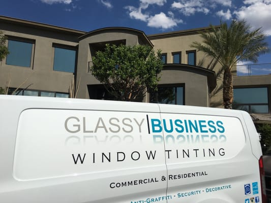Glassy Business Window Tinting