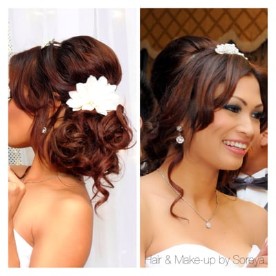 low side updo bridal hair yelp