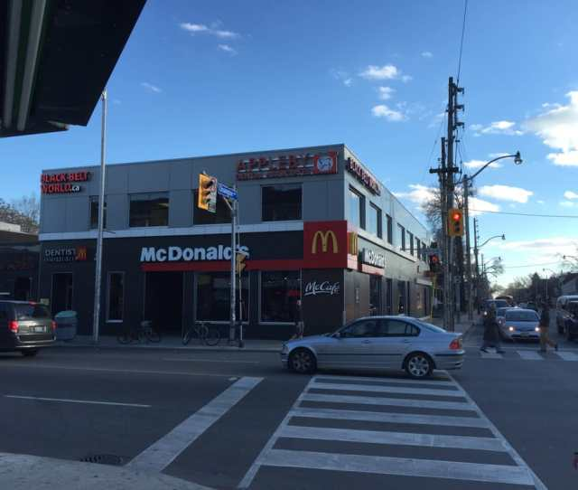 Intersection Of Ossington And Bloor Bbw Hq Located On Top Of Mcdonalds Yelp