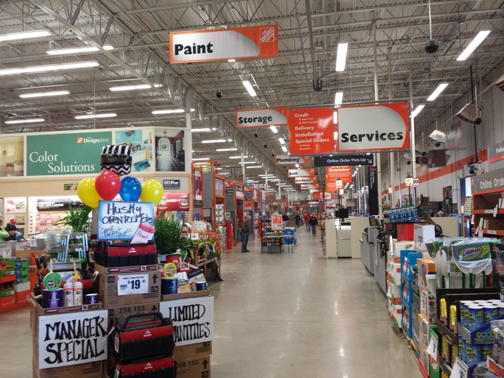 Customer Service And Front Few Isles Of Home Depot Yelp