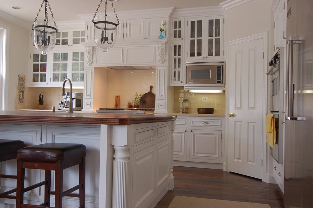 San Diego Remodel. Custom Kitchen Cabinets With Large