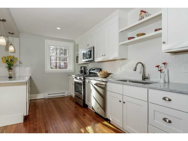 Painted White Shaker Cabinets, Stainless Steel Appliances