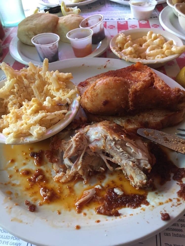 Loveless Cafe - Nashville, TN, United States. I wasn't planning to take a picture of my food but their hot chicken was so good that it had to be done!!!!!!!