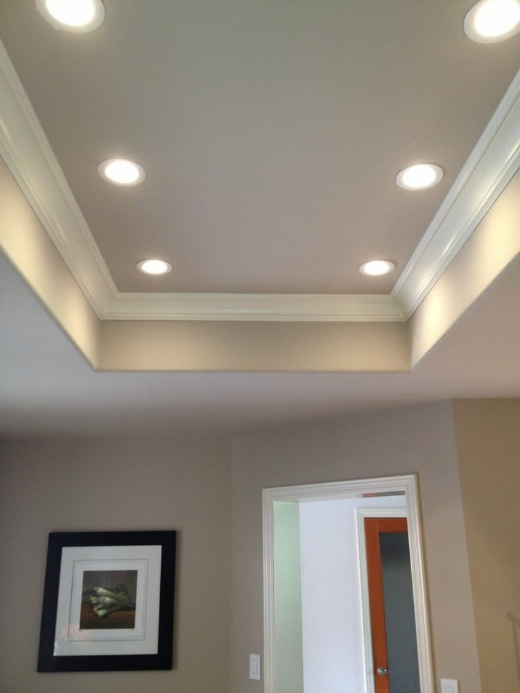 4 LED Recessed Lighting Installed In A Kitchen That Was