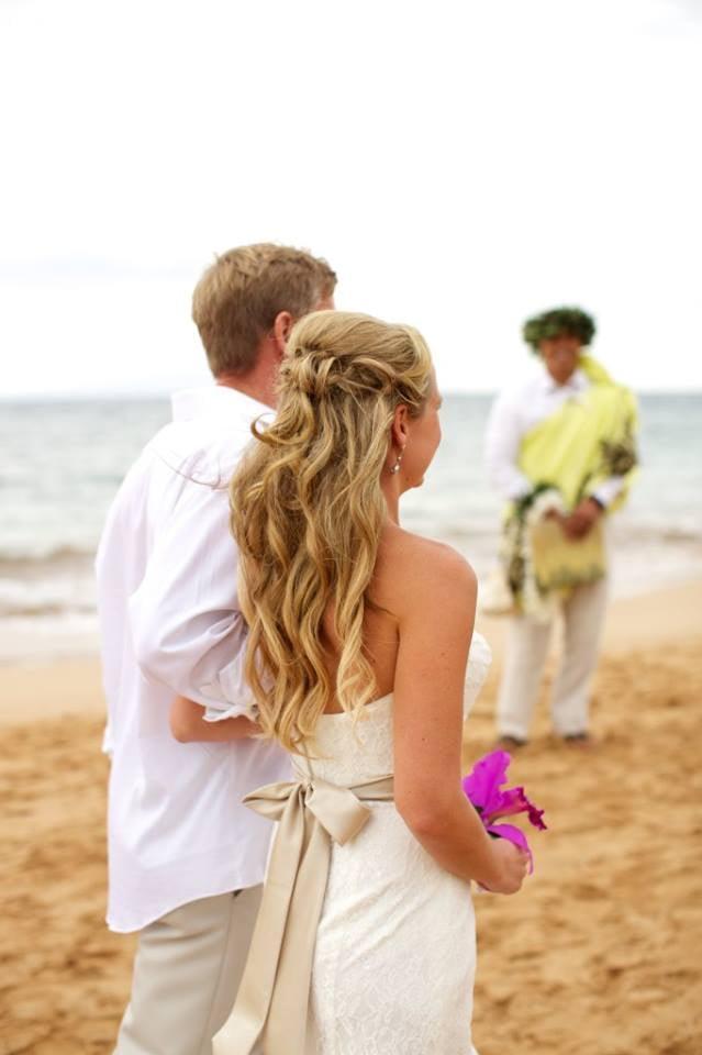 photo of hawaii wedding hair by eboni prentice kihei hi united states