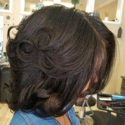 Photo Of Hair At Tiffany S Conyers Ga United States Silk Press And