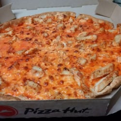 Image result for Pizza Hut buffalo chicken pizza free image well done