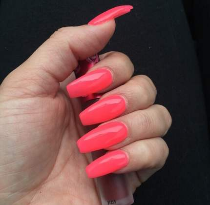 Hot Pink Acrylic Nail Designs Full Hd Pictures 4k Ultra Full