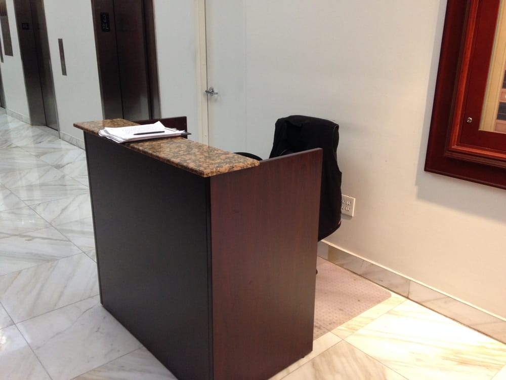 Check Out Our Mini Reception Desk It Works Great For Small Office Spaces Choose From 5