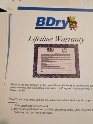 B Dry Basement System