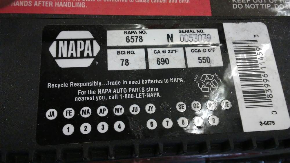 Napa Auto Parts Auto Parts Amp Supplies 3885 Radio Rd
