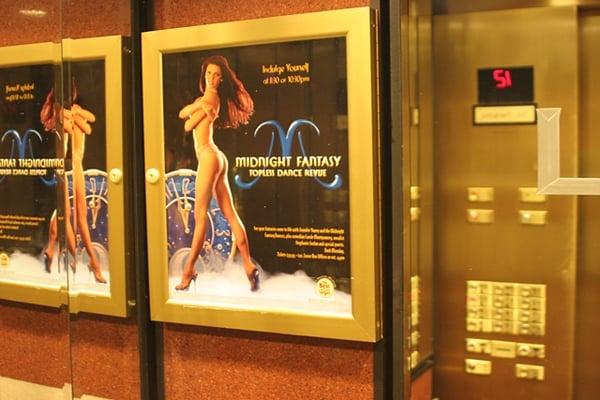 Inside Luxor Elevator