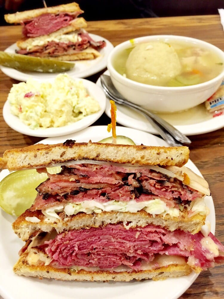 Greenblatt's Delicatessen & Fine Wine Shop - West Hollywood,   CA,   United States. #5 Corned Beef & Pastrami with coleslaw and Russian Dressing. Incredible!