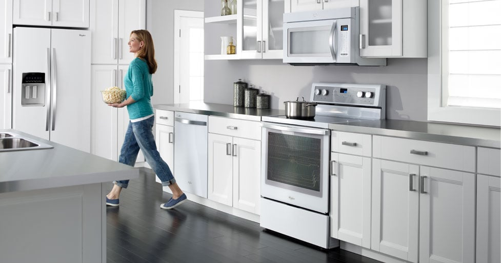 Whirlpool's White & Black Ice Collections. Modern Style