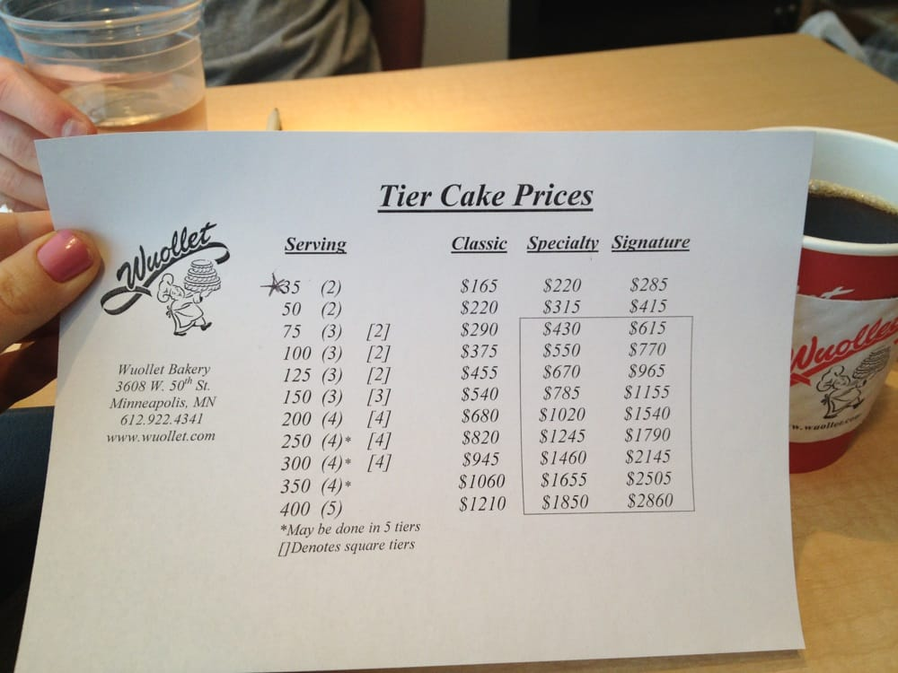 Wuollets website doesn t list prices for tiered wedding cake   so     22 photos for Wuollet Bakery