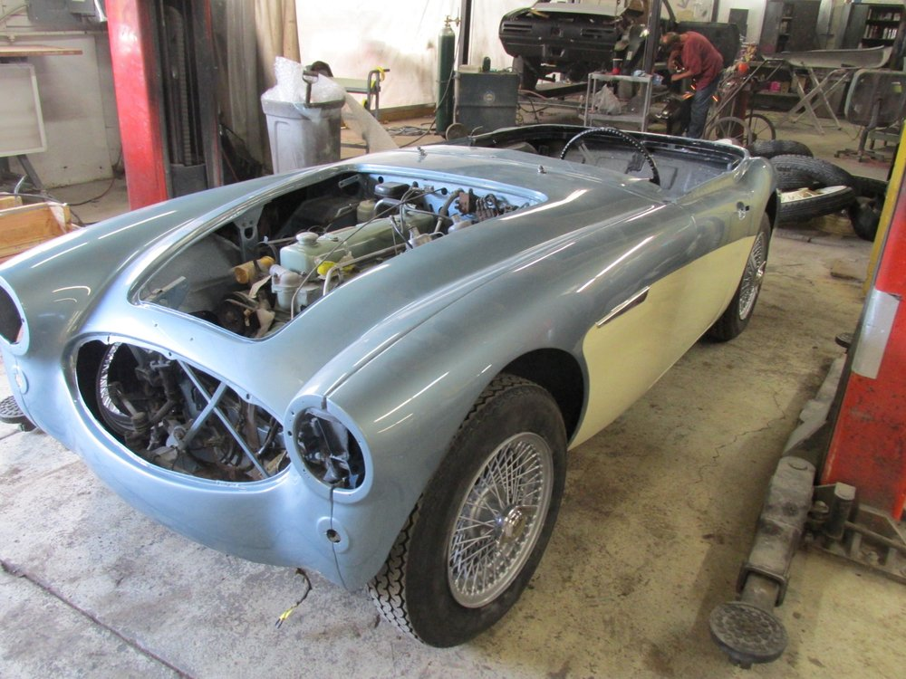 1963 Austin Healey Restoration   Yelp Photo of Fort Pitt Classic Cars   Pittsburgh  PA  United States  1963 Austin