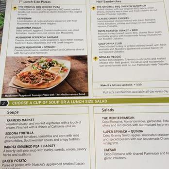 California Pizza Kitchen Oak Brook United States Lunch Menu