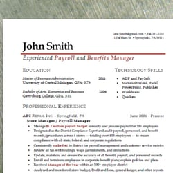 standout resumes