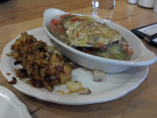 Green Chile Egg Benedict