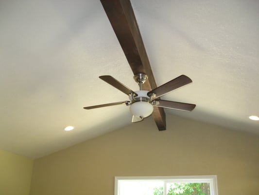 Ceiling Fan Mounted On Beam Yelp