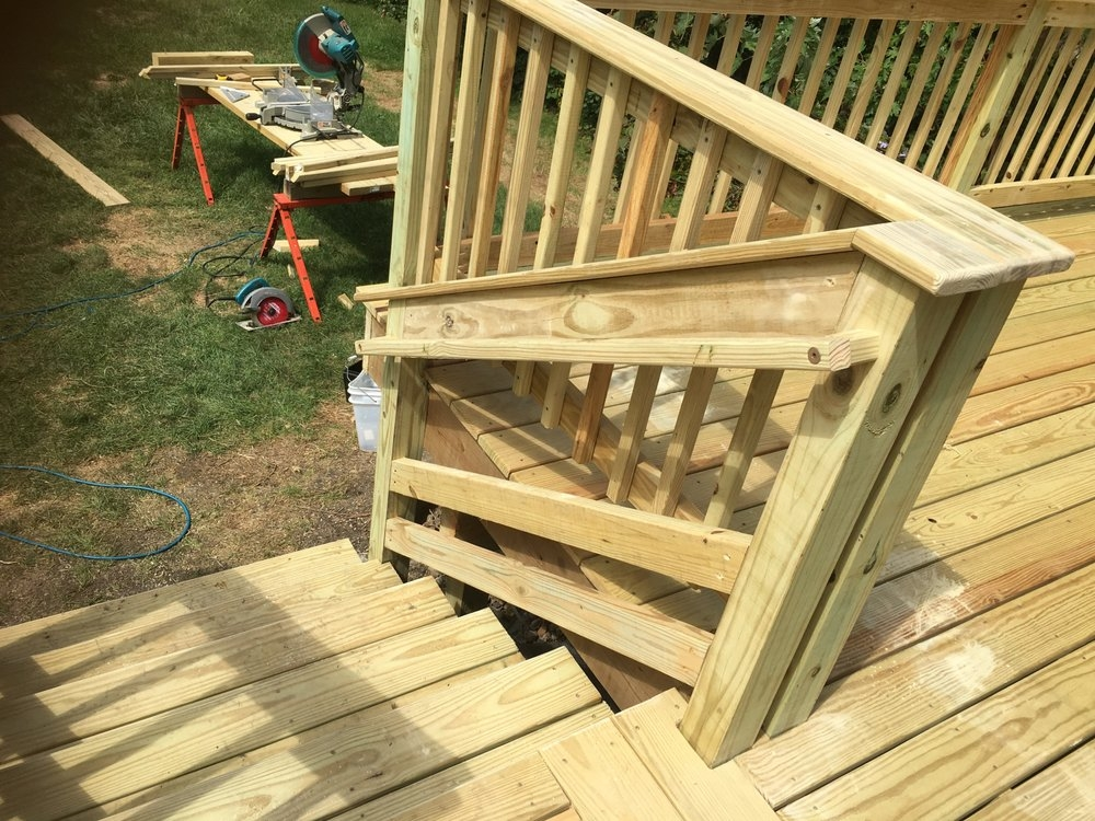 2016 Elmhurst Pressure Treated Deck Notice The Necessary | Pressure Treated Wood Steps