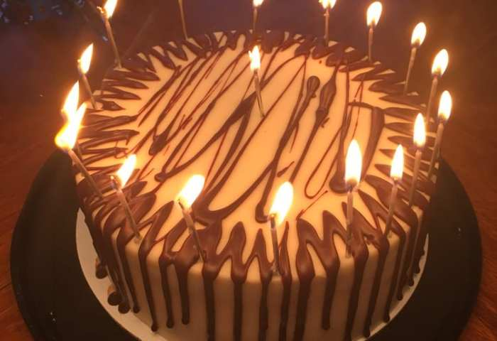 Delicious Chocolate Cream Cheese Cake Made For A Great Birthday