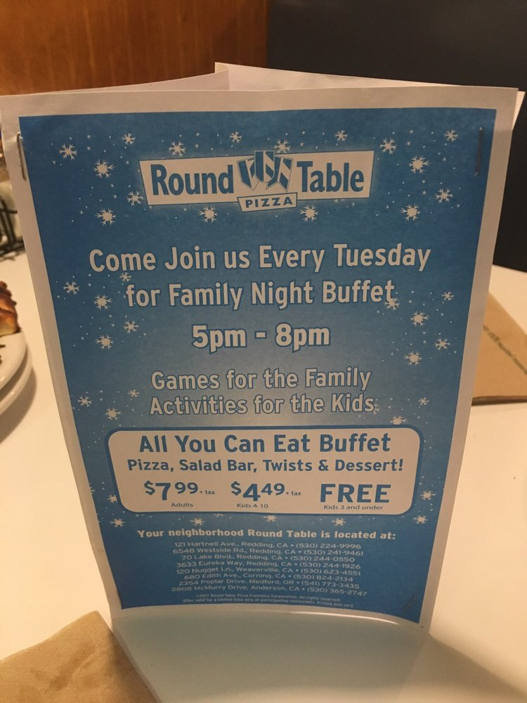 Round Table Pizza Anderson.Round Table Pizza Family Night Jidiletter Co