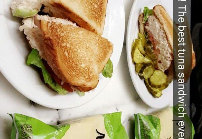 Tuna Salad Sandwich On White Bread Toasted Yelp