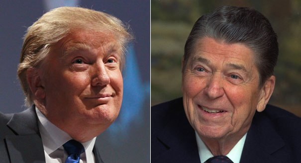 Image result for reagan and trump