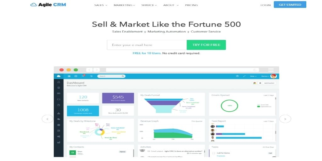 Agile Keap Zoho Act!-software Freshsales Salesforce CRM Software For eCommerce