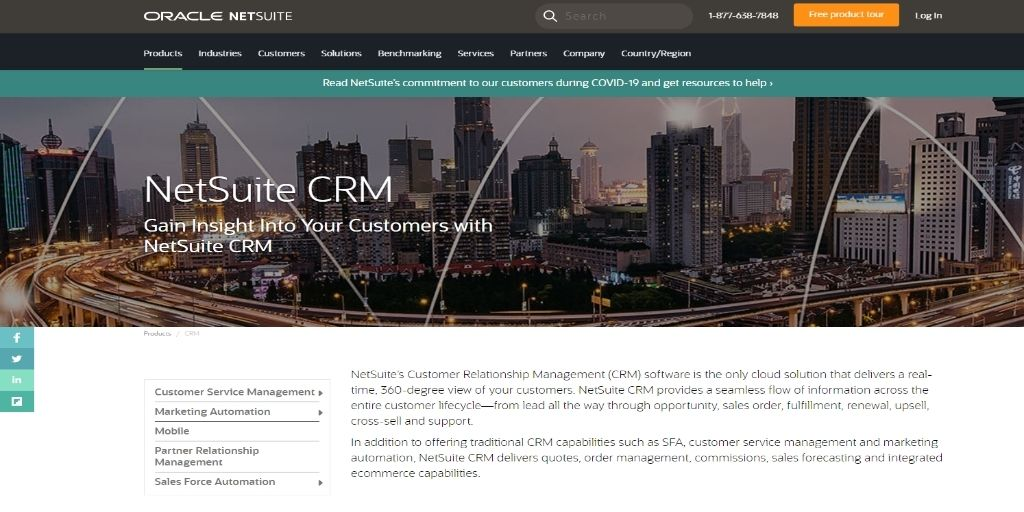 NetSuite CRM+ Zendesk-Sell Bitrix24 Close Apptivo HubSpot Agile Keap Zoho Act!-software Freshsales Salesforce CRM Software For eCommerce