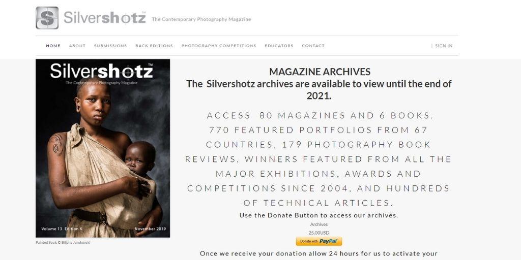 Silvershotz photography magazines