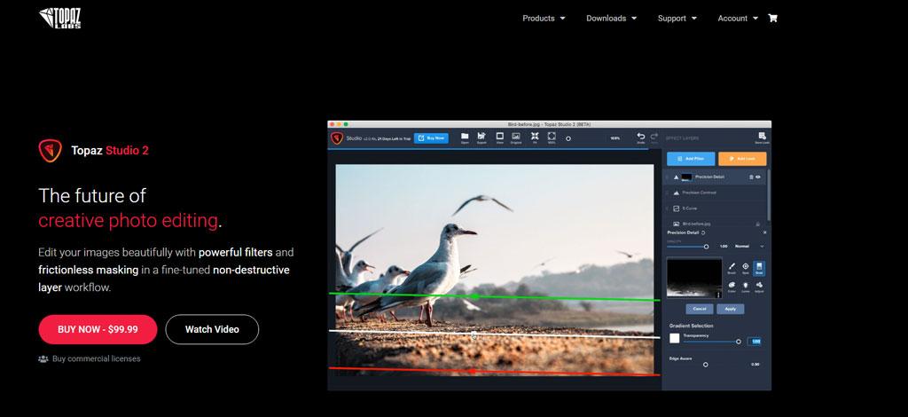 Topaz Studio AI photo editing tool