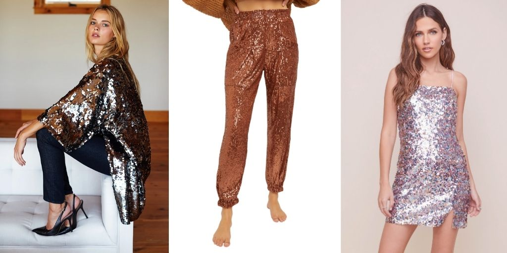 glittering clothes