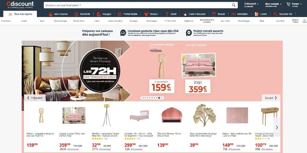 online stores in France