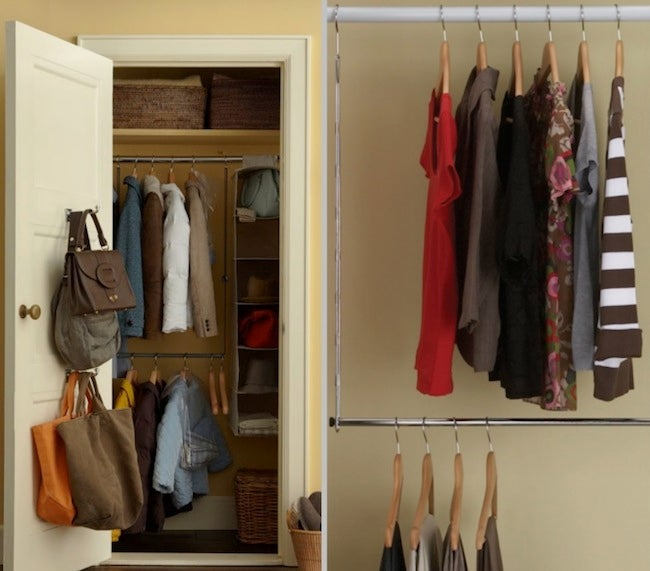 DIY Closet Organizer - Double Rod