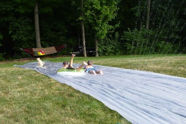 Image result for diy 'slip and slide