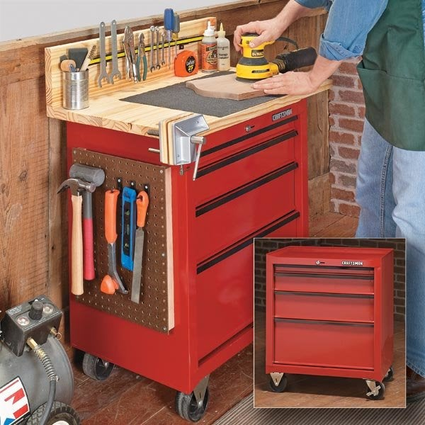 Tool Cabinet Workbench Plans Diy From Woodsmith Magazine