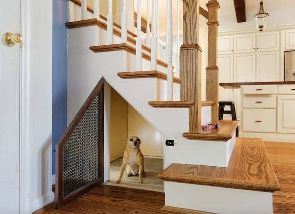 Under Stair Storage 17 Clever Ideas Bob Vila   Basement With Stairs In Middle   Upper Level Basement   Family Room   Hidden Basement   Underground Washroom   Middle Hallway