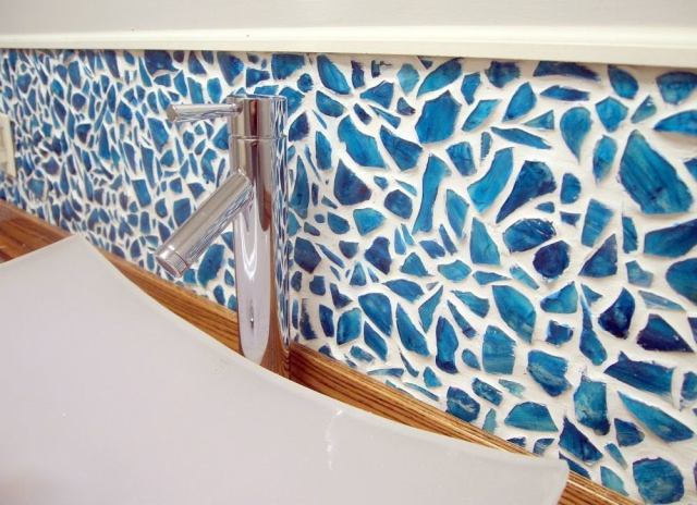 Backsplash ideas   mason jar mosaic