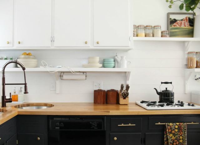 Backsplash ideas   painted plywood