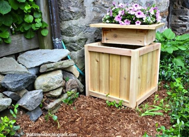 Hose hiding planter 2 pieces tml