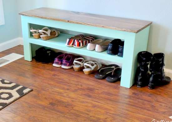 solid wood rustic shoe bench boots rack