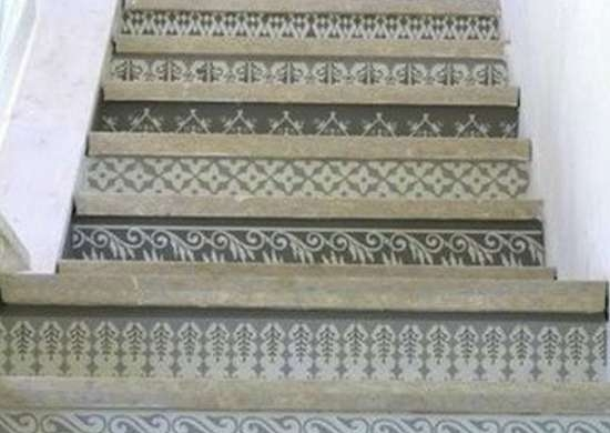 Painted Stairs 10 Home Design Inspirations Bob Vila | Burnt Orange Stair Carpet | 4500 10538 | Non Slip | Orange Area Rug | Overstock | Self Adhesive