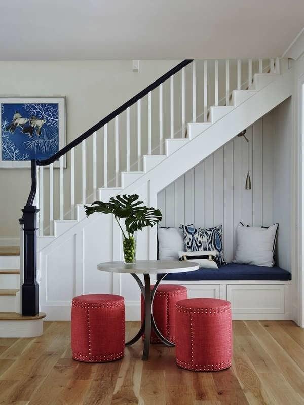 Under Stair Storage 17 Clever Ideas Bob Vila | Bar Under Stairs Design | Stair Storage | Basement Remodeling | Floating Shelves | Space | Escaleras