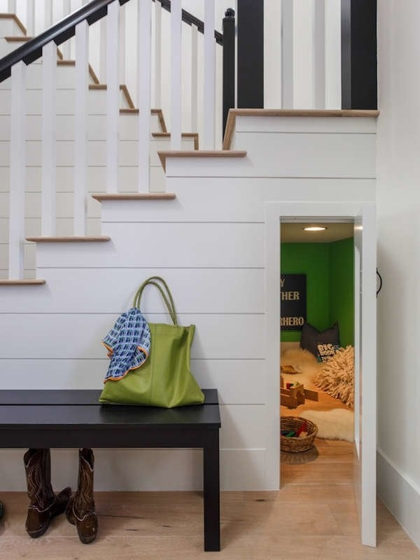 Under Stair Storage 17 Clever Ideas Bob Vila | Creative Stairs For Small Spaces | Build In Storage | Compact | Interior | Round Shape | Wooden