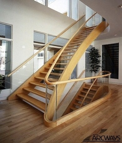 Staircase Railing 14 Ideas To Elevate Your Home Design Bob Vila | Steps Railing Designs With Glass | Terrace Staircase | Tempered Glass | Indoor | Crystal | Small Space