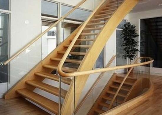 Staircase Railing 14 Ideas To Elevate Your Home Design | Wooden Stairs Railing Design With Glass